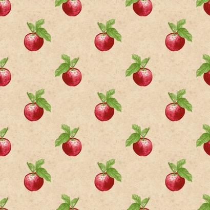 Beige stof met appels