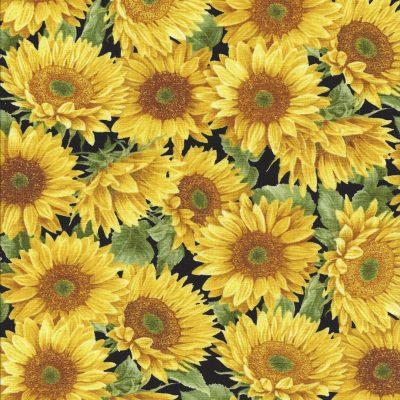 Zonnebloemen stof