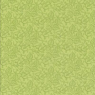 Licht groene stof met blader motief