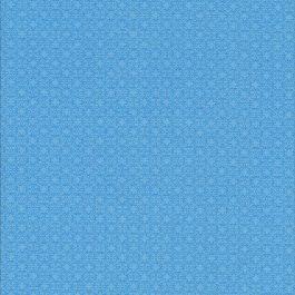 Blauwe stof met grafisch motief