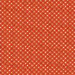 Oranje rood stippen stof-Henry Glass