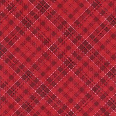 Rode ruitstof met witte en zwarte belijning-Henry glass