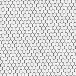 Witte stof met zwart gaasmotief-Elisabeth Studio