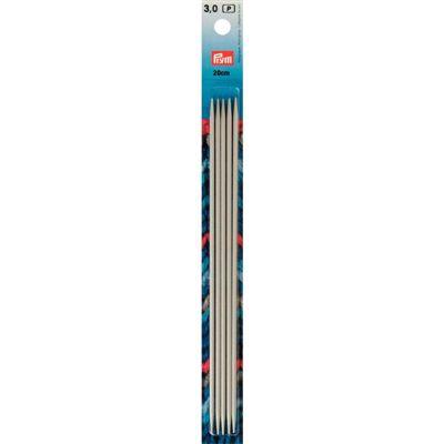 Prym 5 breinaalden zonder knop 3.0 mm 20cm