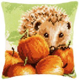 Kruissteekkussen egel met appels
