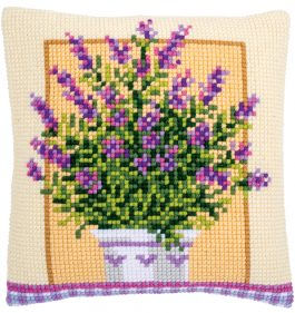 Kruissteekkussen Lavendel