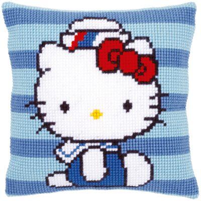 Kruissteekkussen Hello Kitty bij de Marine
