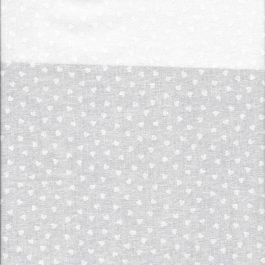 Wit op witte stof met hartjes-Maywood