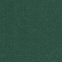 Donker groene stof met linnenstructuur-Makower