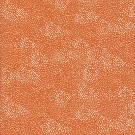 Oranje stof met witte stippen-Makower