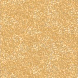 Oranje-gele stof met witte stippen-Makower