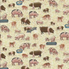 Creme kleurige stof met varkens-Makower