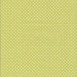Lime groene stof met witte stippen-Makower Spot-on