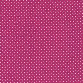 Hard Roze stof met witte stippen-Makower Spot On