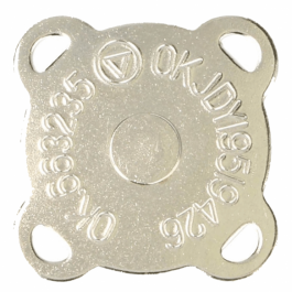 Magneetknoop extra sterk zilverkleur