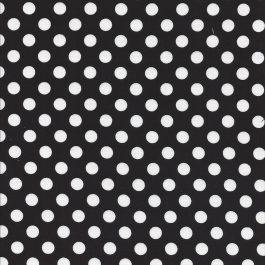 Zwarte stof met witte stippen-Maywood