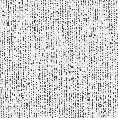 Witte stof met zwarte cijfertjes 1 en 0-Northcott
