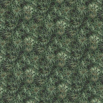 Stof met groene takjes