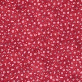 Rode stof met witte sterretjes