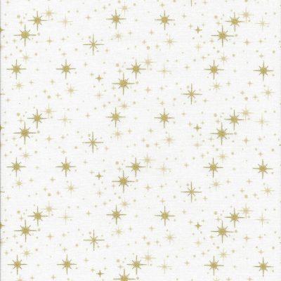 Witte stof met gouden sterren
