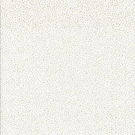 Witte stof met gouden stipjes