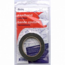 Naadband zwart opstrijkbaar