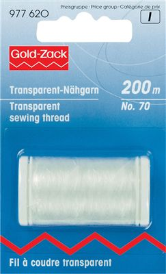 Prym-Gold zack Transparant Naaigaren 200m