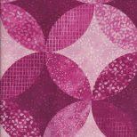 Roze quiltstof met cirkels