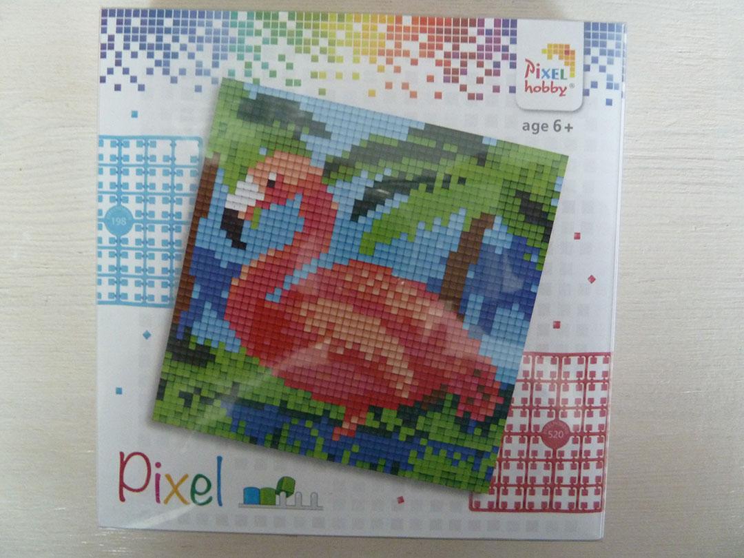 Pixel setje Flamingo