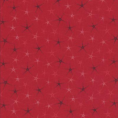Rode quiltstof sterren