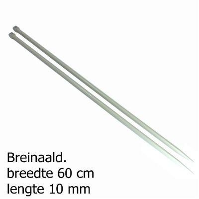 Pony breinaalden 10mm 60cm