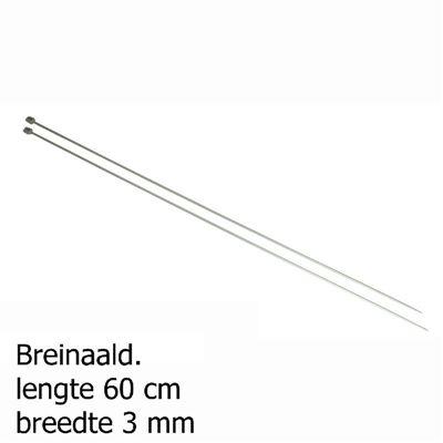 Pony breinaalden 3mm 60cm