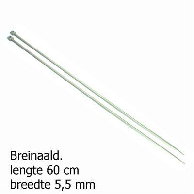 Pony breinaalden 5.5mm 60cm