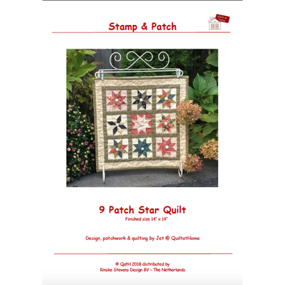 Quiltpatroon 9 Patch Star Quilt