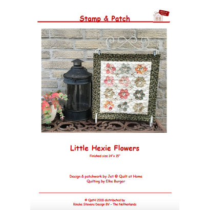 Quiltpatroon Little Hexie Flowers
