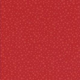 Rode stof met licht rode stippen-Quilting Treasures