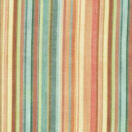 Oranje, geel, bruin en groene streep stof-Quilting Treasures