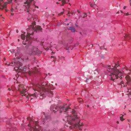 Stof met diverse roze verfspetters-Quilting Treasures