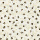 Beige stof met bijtjes