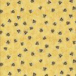 Ei gele stof met bijtjes