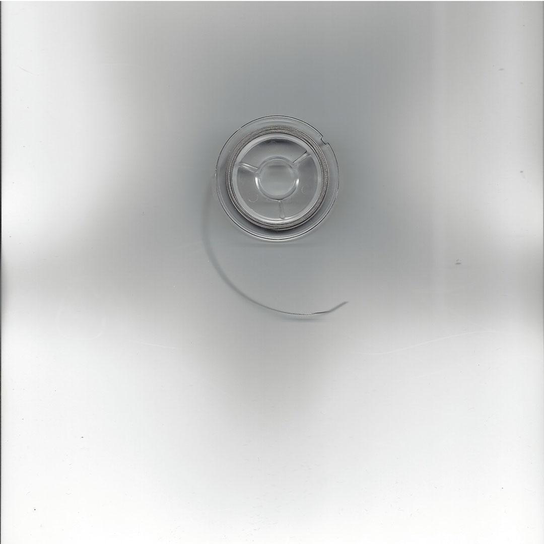 Kralen rijgdraad-gecoat staaldraad zilverkleur 0.45 mm