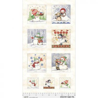 Quilt panel sneeuwpoppen