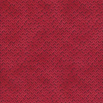 Coral rode stof met fantasie motief