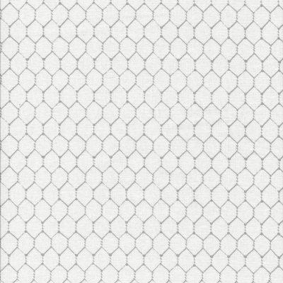 Ecru stof met licht grijs gaasmotief