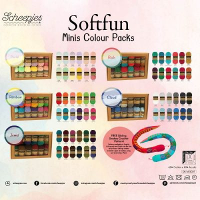 Scheepjes Soft Fun Colour Pack 12x20gr. pastel