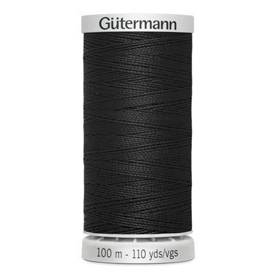 Gutermann Supersterk garen 000 zwart 100m