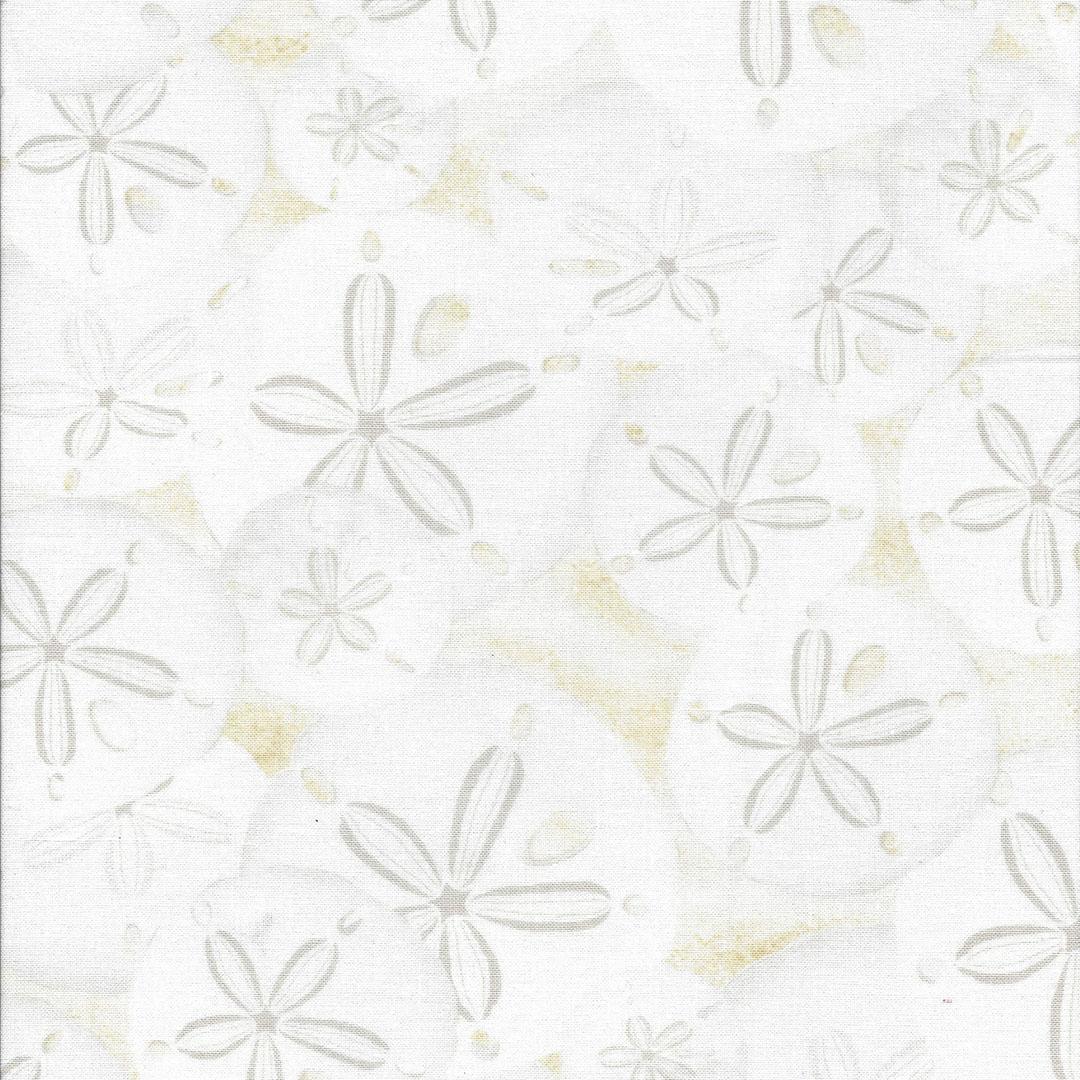 Roomwitte stof met licht bruine zeesterren
