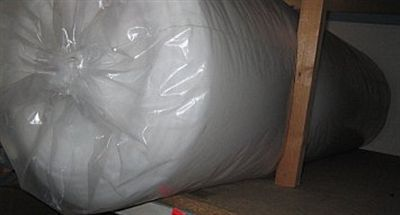 Dunne Volumevlies-Tafelkleed vlies 249 150cm br. Wit