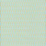 Aqua en witte streepjes stof met gele cirkel -Windham
