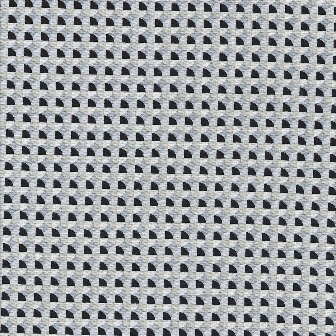 Zwart beige en grijze cirkel stof-Windham